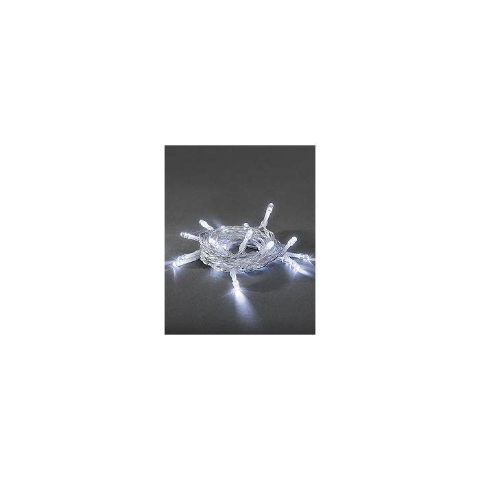Konstsmide lichtsnoer 10 koel witte LEDs op batterij 1407-203