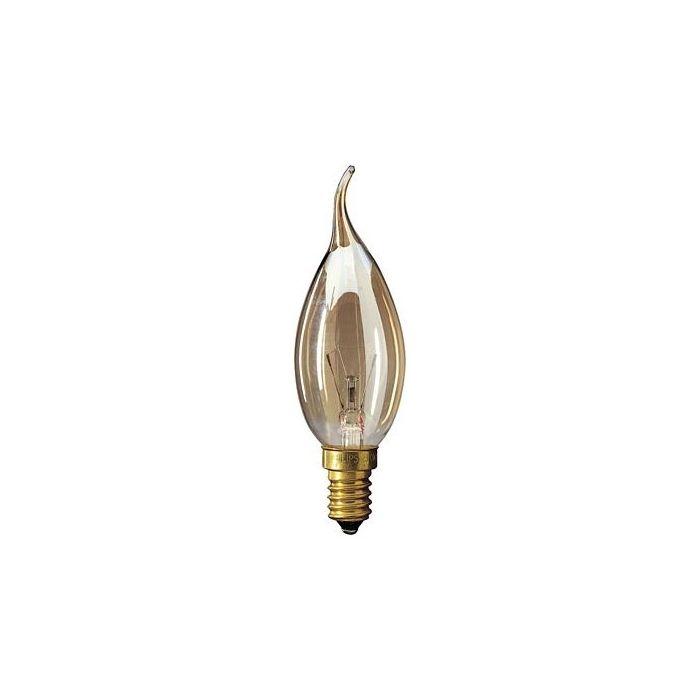 Kaarslamp Gloeilamp E14 230V 15W Tip amber