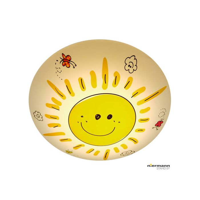 Niermann Sunny 681 plafondlamp geel
