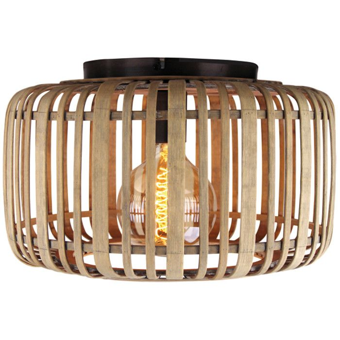 Plafondlamp Treccia PL5420H rotan 40cm
