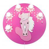 Plafondlamp Pony roze