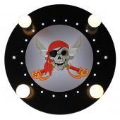 Plafondlamp Piraat zwart