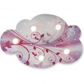 Plafondlamp Wolk Bloemen Fantasie roze
