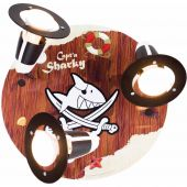 Plafondlamp Capt'n Sharky hout 30cm