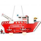 Hanglamp brandweerboot rood 58cm