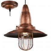 Trio Fisherman 304500162 hanglamp koper