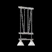 Trio pendel armatuur met 2 lampenkappen serie 3751 wit