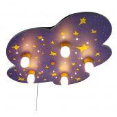 Niermann Nachthemel 643 plafondlamp blauw