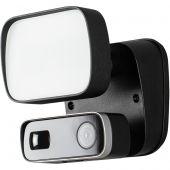 Cameralamp floodlight zwart 13cm