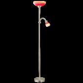 Eglo Up 4 vloerlamp Basic 86654 nikkel rood
