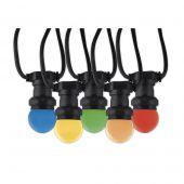LED partysnoer 10 multicolor lampen 10 meter