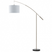 Eglo Nadina vloerlamp Style 92206 nikkel wit