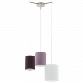 Eglo Tombolo hanglamp Style 92755 wit bruin paars