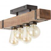 Plafondlamp Woodhill 93721/76 hout 46cm
