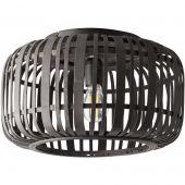 Plafondlamp Woodrow zwart 40cm